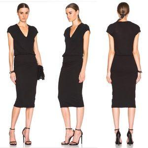 James Perse Sleeveless Shirred 100% Cotton Dress